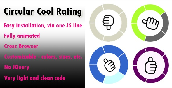 The Circular Rating Plugin Is A fully Animated JavaScript Plugin To Rate Anything
